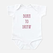 Born To Draw 2 Infant Bodysuit