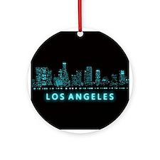 Digital Los Angeles Ornament (Round)