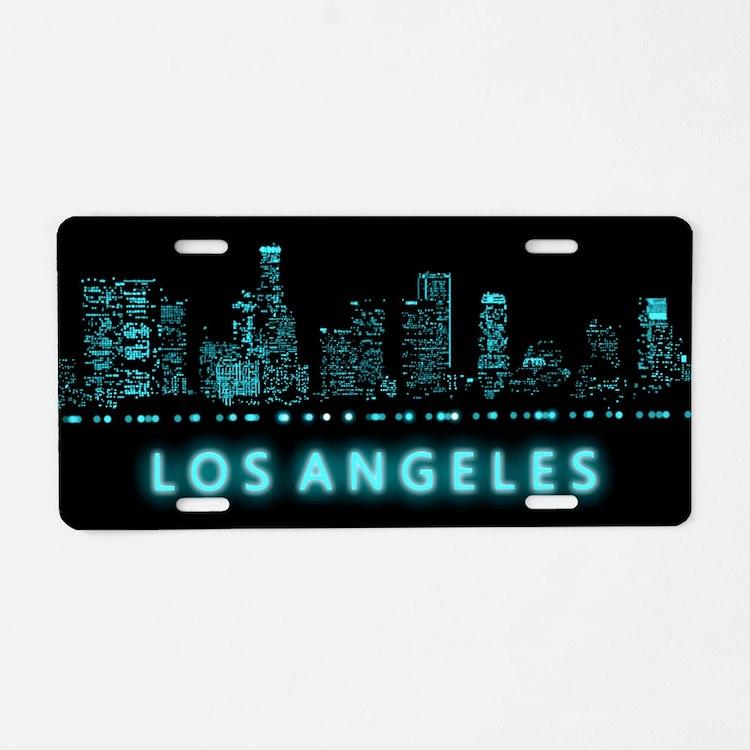 Digital Cityscape: Los Ange Aluminum License Plate