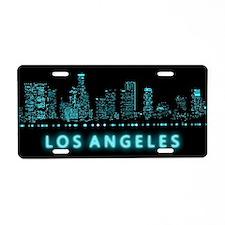 Digital Los Angeles Aluminum License Plate