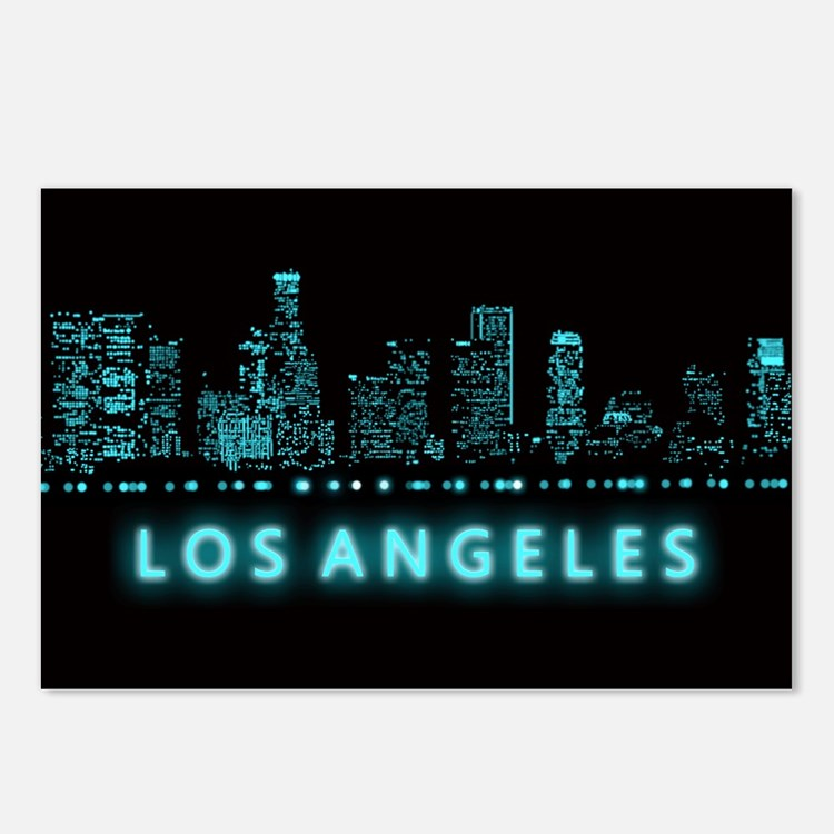 Digital Cityscape: Los An Postcards (Package of 8)