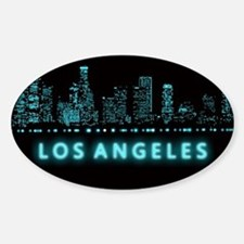 Digital Cityscape: Los Angeles, Cal Sticker (Oval)