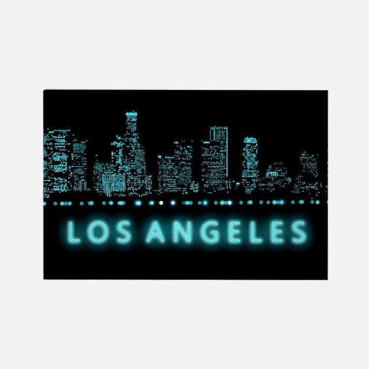 Digital Cityscape: Los Angeles, C Rectangle Magnet