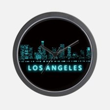 Digital Cityscape: Los Angeles, Califor Wall Clock