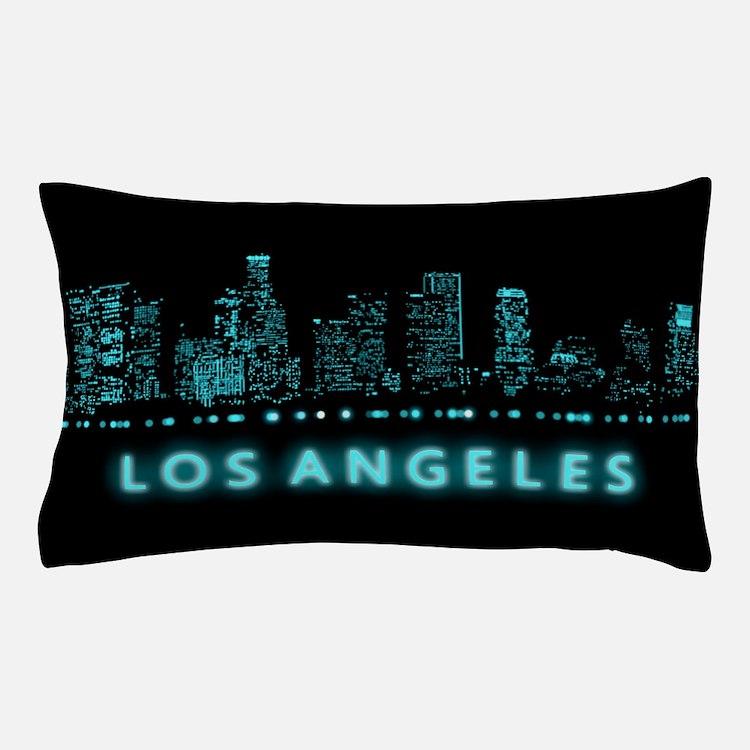 Digital Cityscape: Los Angeles, Califo Pillow Case