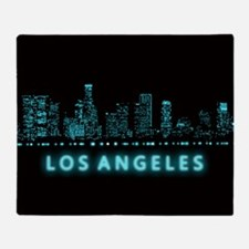 Digital Cityscape: Los Angeles, Cali Throw Blanket