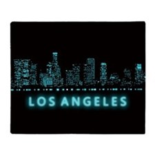 Digital Los Angeles Throw Blanket
