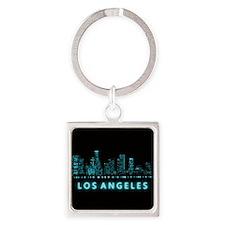 Digital Los Angeles Keychains