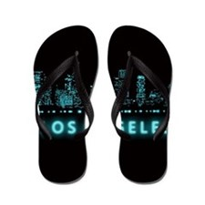 Digital Los Angeles Flip Flops