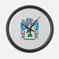 Mcalpine Coat of Arms - Family Cr Large Wall Clock