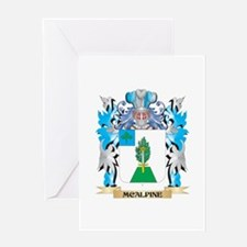 Mcalpine Coat of Arms - Family Cres Greeting Cards