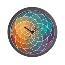 Geometric Multi Color Patterned Design Wall Clock