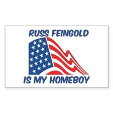 RUSS FEINGOLD is my homeboy Rectangle Decal