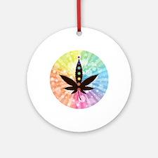 Cannabis blk Round Ornament