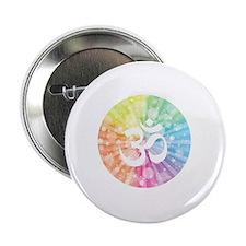 """Namaste white 2.25"""" Button"""