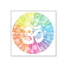 "Namaste white Square Sticker 3"" x 3"""
