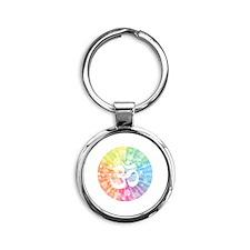 Namaste white Round Keychain