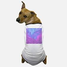 Blue & Purple Geometric Triangle Patte Dog T-Shirt
