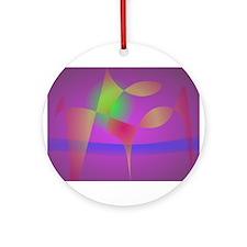 Dark Purple Happiness Ornament (Round)