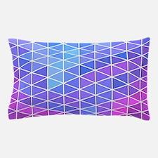 Blue & Purple Geometric Triangle Patte Pillow Case
