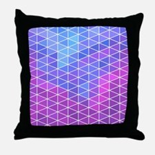 Blue & Purple Geometric Triangle Patt Throw Pillow