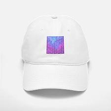 Blue & Purple Geometric Triangle Pattern Baseball Baseball Cap