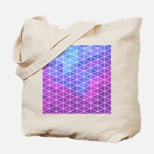 Blue & Purple Geometric Triangle Pattern Tote Bag