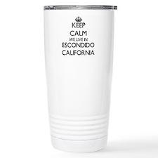 Keep calm we live in Es Travel Mug