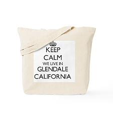 Keep calm we live in Glendale California Tote Bag