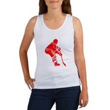 Red Hockey Player Tank Top