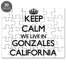 Keep calm we live in Gonzales California Puzzle