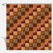 HARDWOOD QUILT Shower Curtain