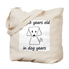 9 dog years 6 Tote Bag