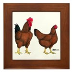 Red Broiler Pair Framed Tile