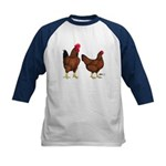 Red Broiler Pair Kids Baseball Jersey