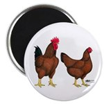 Red Broiler Pair Magnet