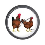 Red Broiler Pair Wall Clock