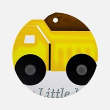 Our Little Man Dump Truck Ornament (Round)