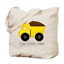 Our Little Man Dump Truck Tote Bag