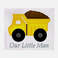 Our Little Man Dump Truck Throw Blanket
