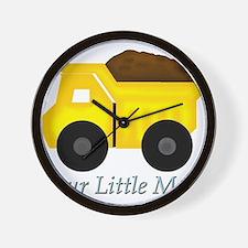 Our Little Man Dump Truck Wall Clock
