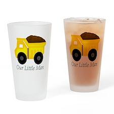 Our Little Man Dump Truck Drinking Glass