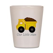 Our Little Man Dump Truck Shot Glass