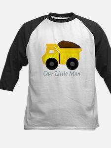 Our Little Man Dump Truck Baseball Jersey