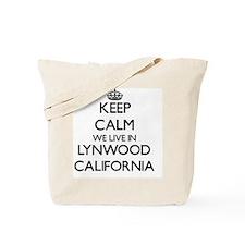 Keep calm we live in Lynwood California Tote Bag