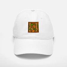 Floral Initial H Baseball Baseball Cap