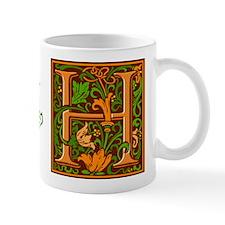 Floral Initial H Mug