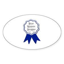 blue ribbon blogger.jpg Decal
