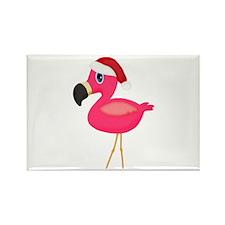 Christmas Flamingo Santa Magnets