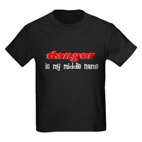 Danger is my middle name Kids Dark T-Shirt